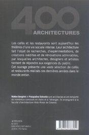 Cafés et restaurants t.2 - 4ème de couverture - Format classique