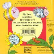 Gisèle l'abeille te raconte ; les contraires - 4ème de couverture - Format classique