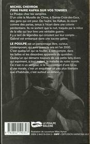 J Irai Faire Kafka Sur Vos Tombes - 4ème de couverture - Format classique