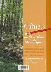 Carnet du cueilleur de champignon - 4ème de couverture - Format classique
