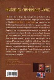 Le livre de la divination chamanique sioux - 4ème de couverture - Format classique
