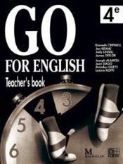 Go For English 4e / Livre Du Professeur (Afrique De L'Ouest) - Couverture - Format classique