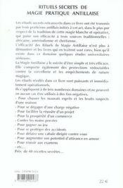 Rituels Secrets De Magie Pratique Antillaise - 4ème de couverture - Format classique