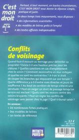 Conflits De Voisinage - 4ème de couverture - Format classique