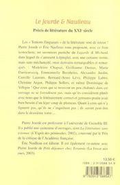 Le Jourde Et Naulleau ; Precis De Litterature Du Xxi Siecle - 4ème de couverture - Format classique