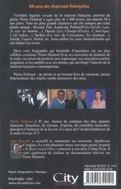 Pierre Delanoe - 4ème de couverture - Format classique