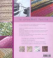Le crochet facile ; 20 créations contemporaines pour la maison - 4ème de couverture - Format classique