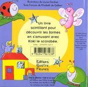 Kaki le scarabée te raconte ; les formes - 4ème de couverture - Format classique