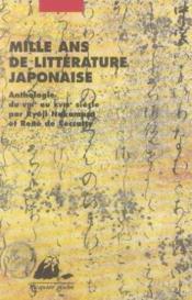 Mille ans de littérature japonaise - Couverture - Format classique