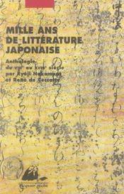 Mille ans de littérature japonaise - Intérieur - Format classique