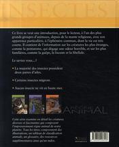 Règne Animal - Insectes - 4ème de couverture - Format classique