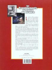 Les tremblements de terre en france - 4ème de couverture - Format classique