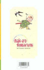 Niji-iro tohgarashi t.5 - 4ème de couverture - Format classique