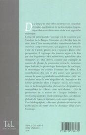 De La Langue Au Style - 4ème de couverture - Format classique