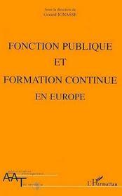 Fonction Publique Et Formation Continue En Europe - Intérieur - Format classique