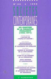 Les chantiers de la formation permanente ; 1945-1971 - Couverture - Format classique