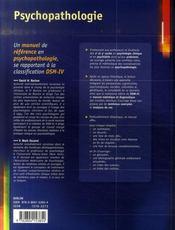 Psychopathologie - 4ème de couverture - Format classique
