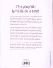 Encyclopedie Familiale De La Sante (L') - 4ème de couverture - Format classique
