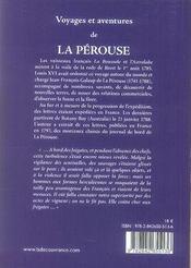 Voyages et aventures de la pérouse - 4ème de couverture - Format classique