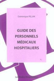Guide Des Personnels Medicaux - Intérieur - Format classique