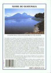 Le Guatemala - 4ème de couverture - Format classique