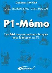 P1-Memo - Intérieur - Format classique