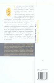 Autour de l'ethologie et de la cognition animale - 4ème de couverture - Format classique