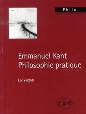 Emmanuel kant, philosophie pratique - Intérieur - Format classique