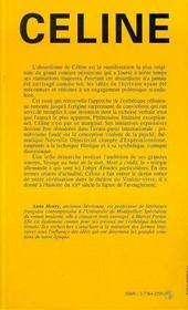 Celine, Ecrivain - 4ème de couverture - Format classique