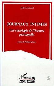 Journaux intimes ; une sociologie de l'écriture personnelle - Intérieur - Format classique