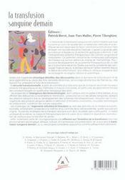 La Transfusion Sanguine Demain - 4ème de couverture - Format classique