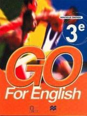Go for english 3e (senegal) - Couverture - Format classique