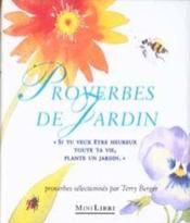 Les proverbes de jardin - Couverture - Format classique