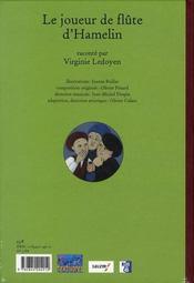 Le joueur de flûte d'Hamelin - 4ème de couverture - Format classique