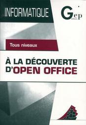À la découverte d'open office - Intérieur - Format classique