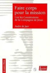 Faire Corps Pour La Mission - Couverture - Format classique