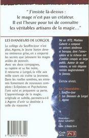 Les Crepusculaires 2 (Les) - Danseurs De Lorgol - 4ème de couverture - Format classique