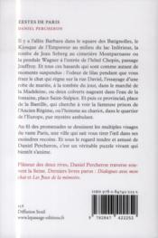 Zestes de Paris - 4ème de couverture - Format classique