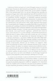 L'Empire Espagnol De Charles Quint (1516-1556) Capes Agregation Espagnol - 4ème de couverture - Format classique