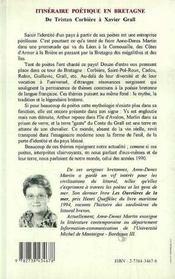 Itineraire Poetique En Bretagne De Tristan Corbiere A Xavier Grall - 4ème de couverture - Format classique