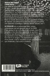 Lapin Dixit - 4ème de couverture - Format classique