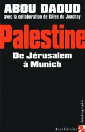 Palestine de jerusalem a munic - Couverture - Format classique