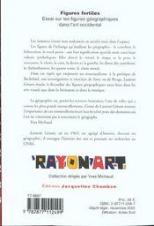 Figures Fertiles ; Essai Sur Les Figures Geographiques Dans L'Art Occidental - 4ème de couverture - Format classique