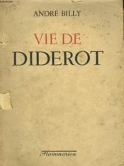 Vie De Diderot. - Couverture - Format classique