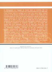 Charles Quint Et La Monarchie Espagnole - 4ème de couverture - Format classique