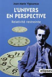 L'univers en perspective, relativité restreinte - Intérieur - Format classique