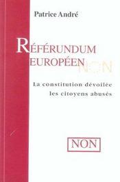Referendum Europeen - La Constitution Devoilee, Les Citoyens Abuses - Intérieur - Format classique