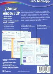 Optimiser windows xp - 4ème de couverture - Format classique