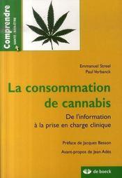 La consommation de cannabis ; de l'information à la prise en charge clinique - Intérieur - Format classique
