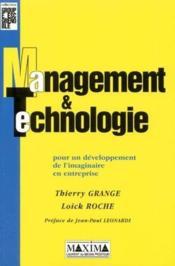 Management Et Technologie : Pour Un Developpement De L'Imaginaire En Entreprise - Couverture - Format classique